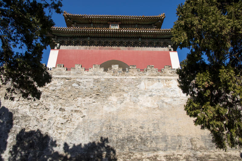 Azië Chinees, Peking, het toneelgebied van Ming Dynasty Tombs, Dinglingï ¼ ŒMinglou royalty-vrije stock afbeeldingen