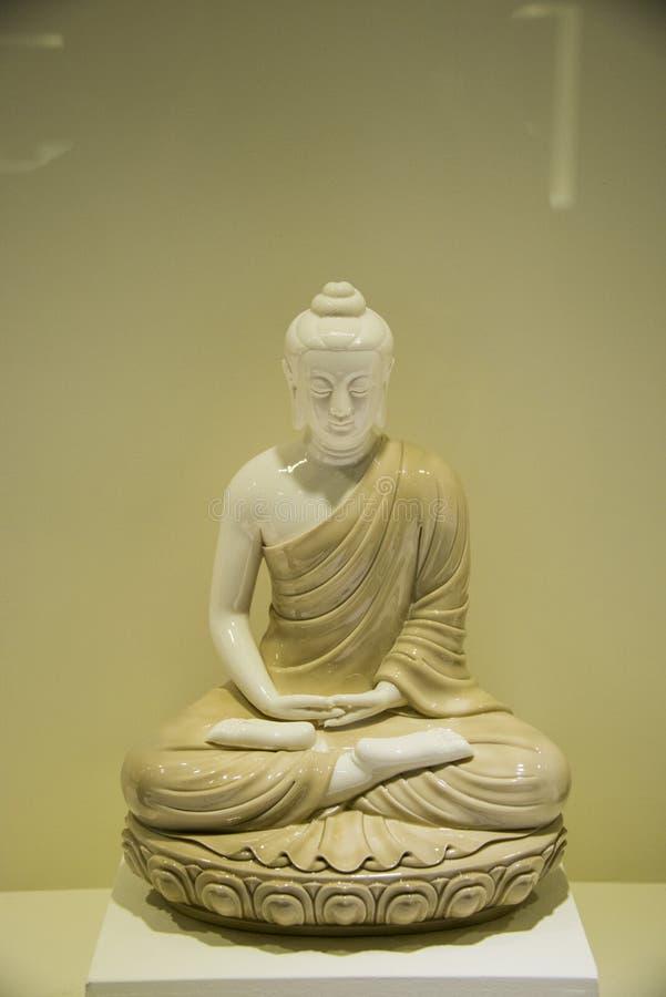 Azië Chinees, Peking, Nationaal Museum, Shakya Mani, het standbeeld van Boedha stock foto