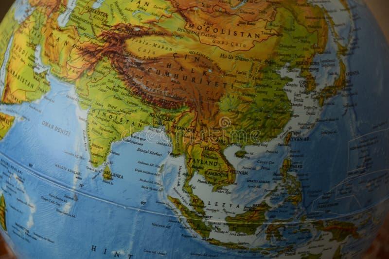 Azië - hoogst gedetailleerde politieke kaart stock afbeeldingen