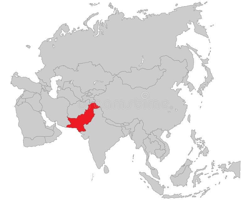 Azië - Politieke Kaart van Azië vector illustratie