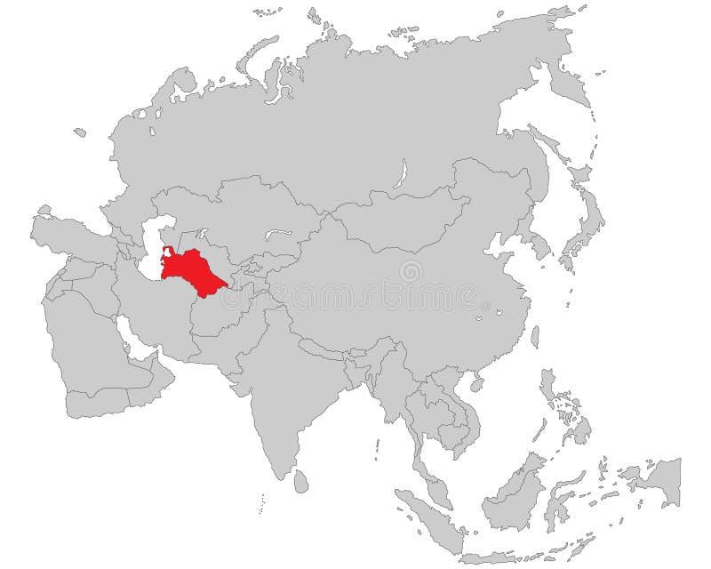 Azië - Politieke Kaart van Azië royalty-vrije illustratie