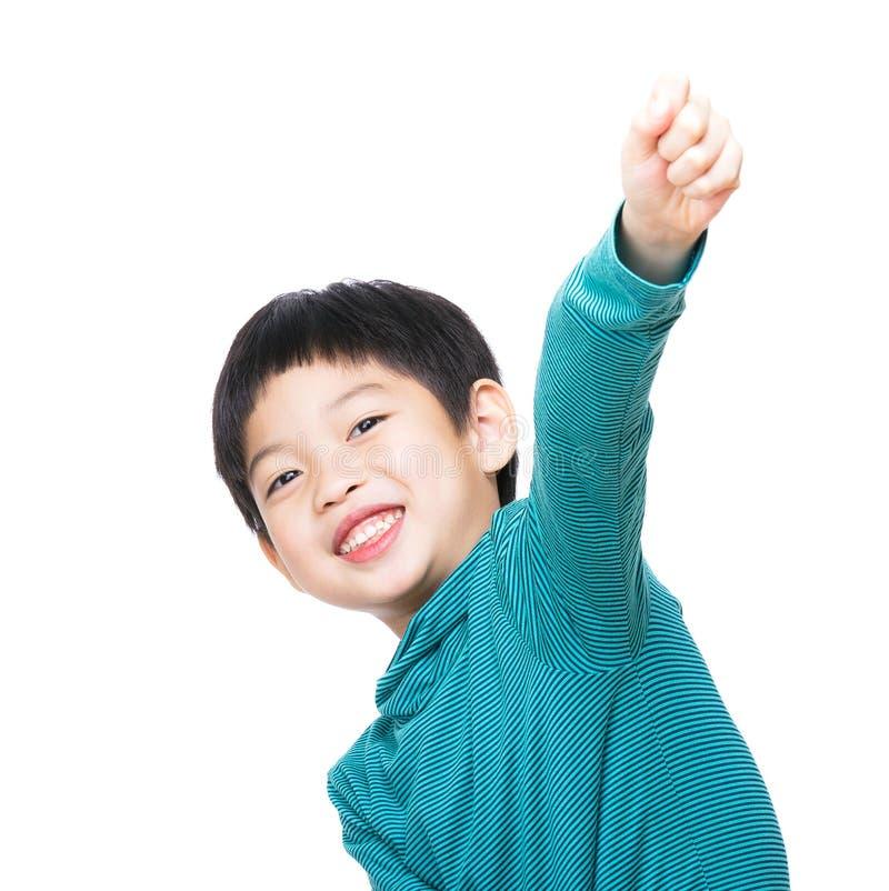 Azië weinig jongenshand omhoog royalty-vrije stock fotografie