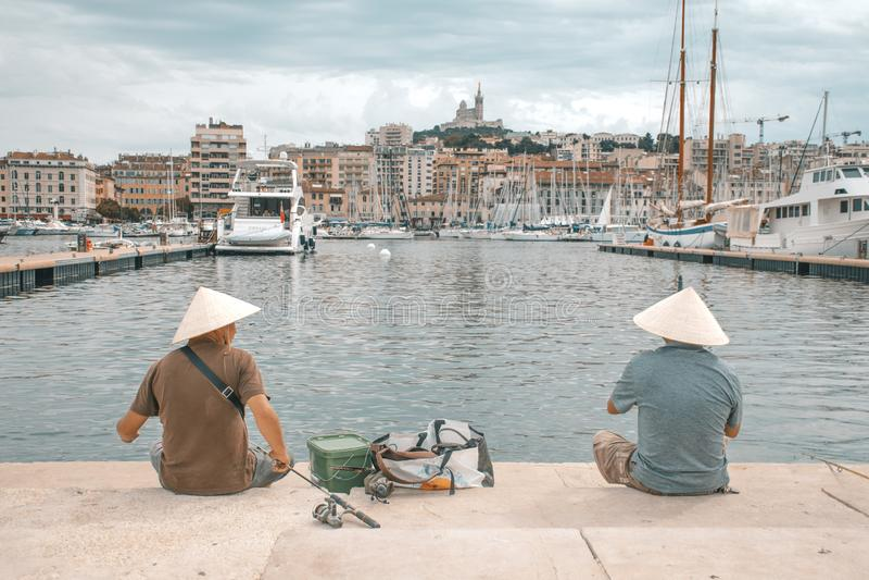 Aziaten in Marseille royalty-vrije stock fotografie