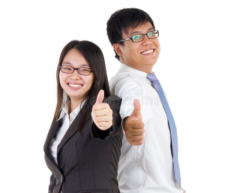 Aziatisch bedrijfspaar royalty-vrije stock fotografie
