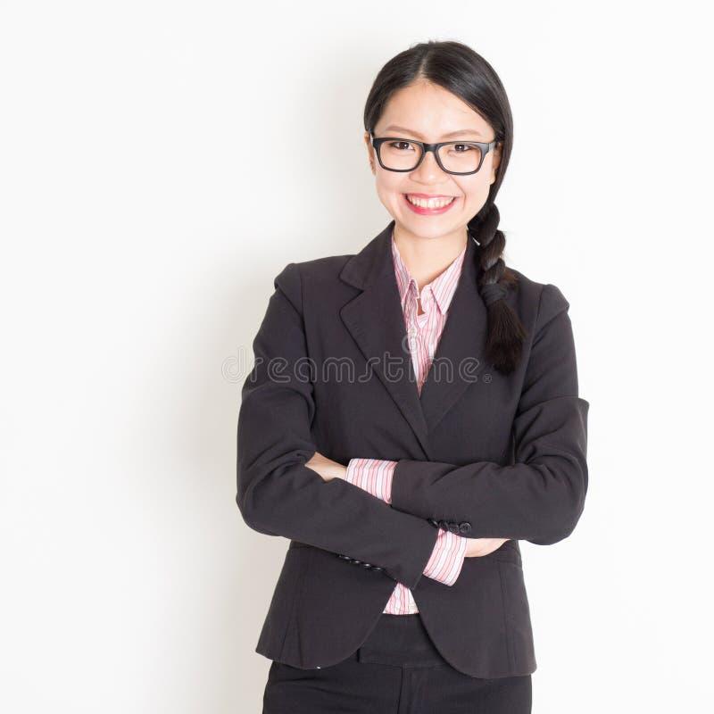 Aziatisch bedrijfsvrouwenportret royalty-vrije stock foto