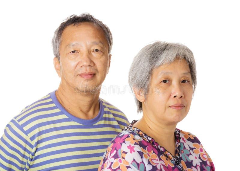 Aziatisch bejaard paar royalty-vrije stock afbeelding