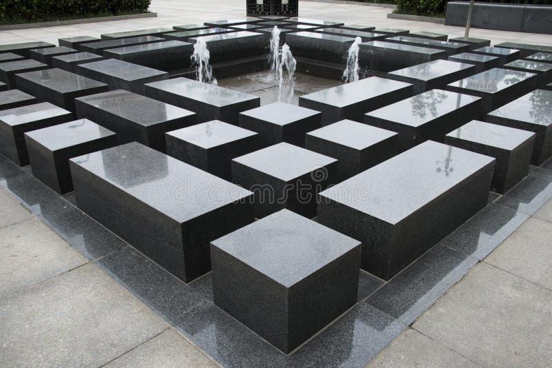 Aziatisch China, fontein, de rest van Shitai royalty-vrije stock foto's