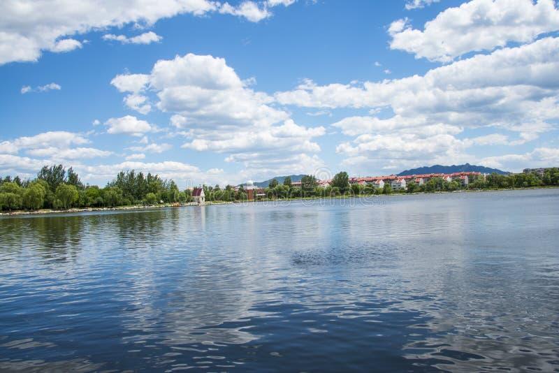 Aziatisch China, Peking, Yanqing, xia du park, de Zomer sceneryï ¼ ŒLakeview stock foto