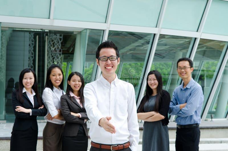 Aziatisch commercieel team royalty-vrije stock foto's