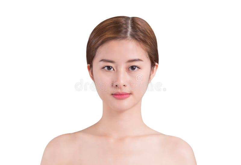 Aziatisch de zorgbeeld van de vrouwenhuid op isolate achtergrond royalty-vrije stock foto's