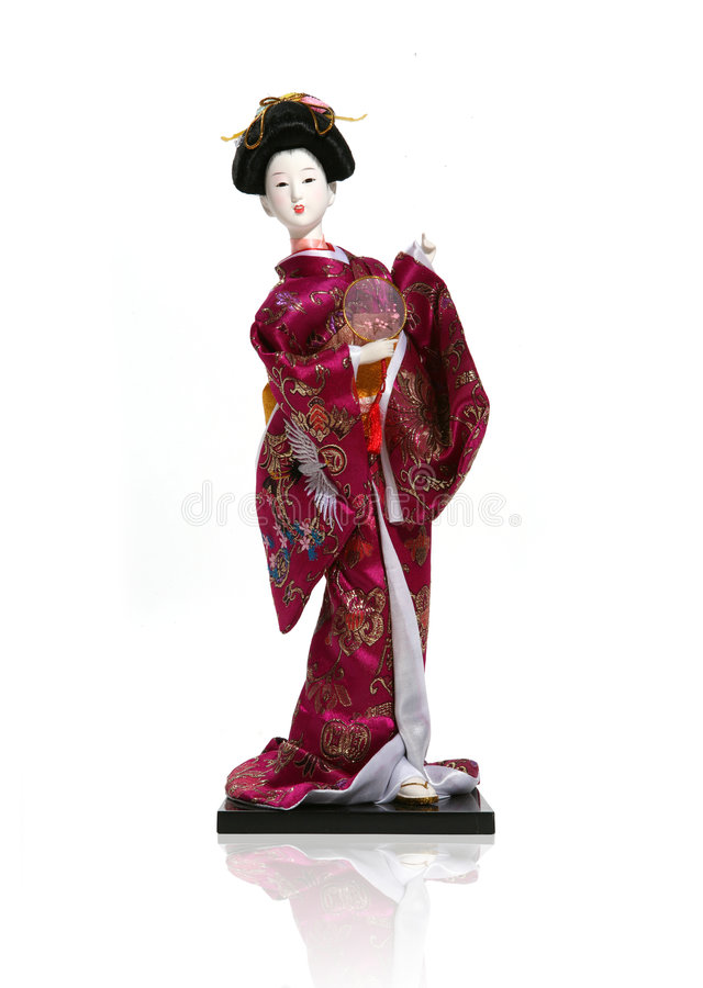 Aziatisch Doll royalty-vrije stock fotografie