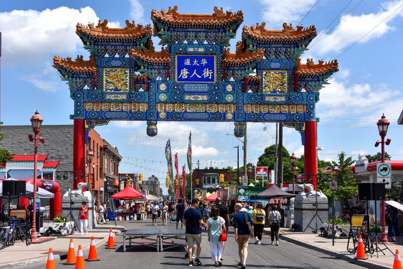 Aziatisch Festival in de Chinatown van Ottawa stock foto's