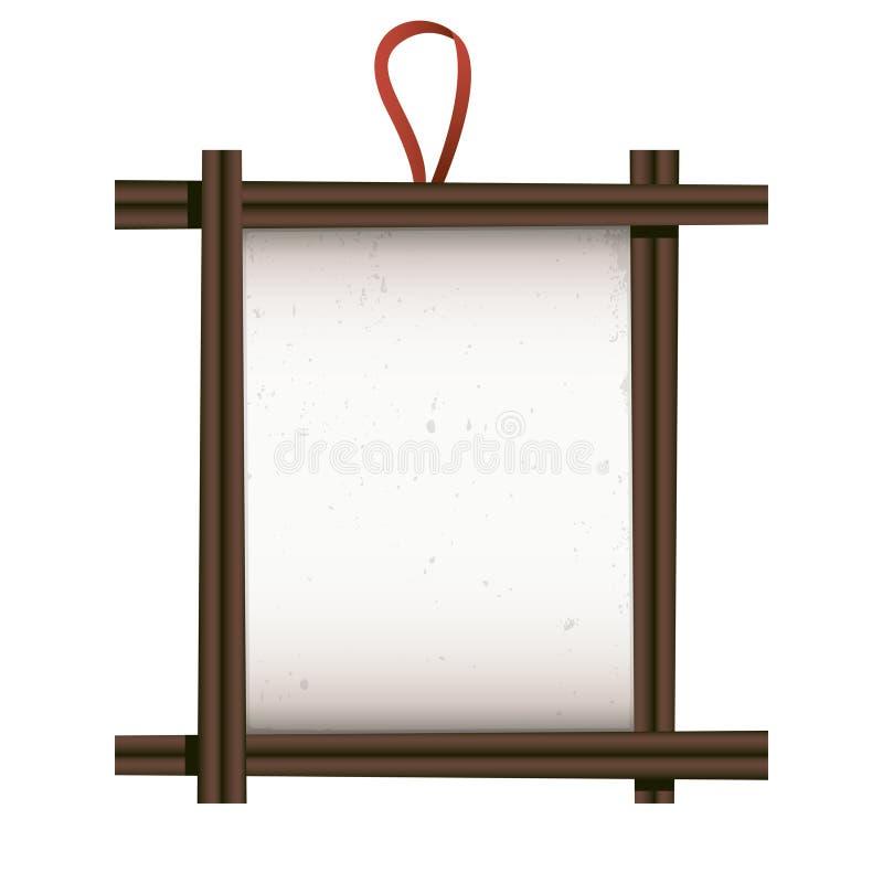 Aziatisch Frame vector illustratie