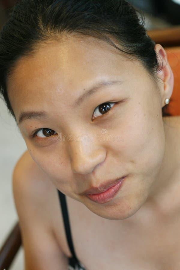 Aziatisch gezicht stock afbeelding