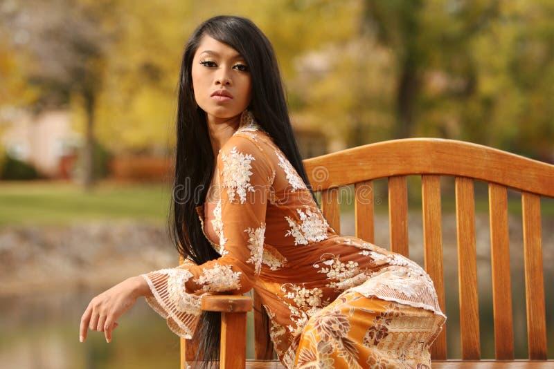 Aziatisch Indonesisch Meisje royalty-vrije stock afbeelding