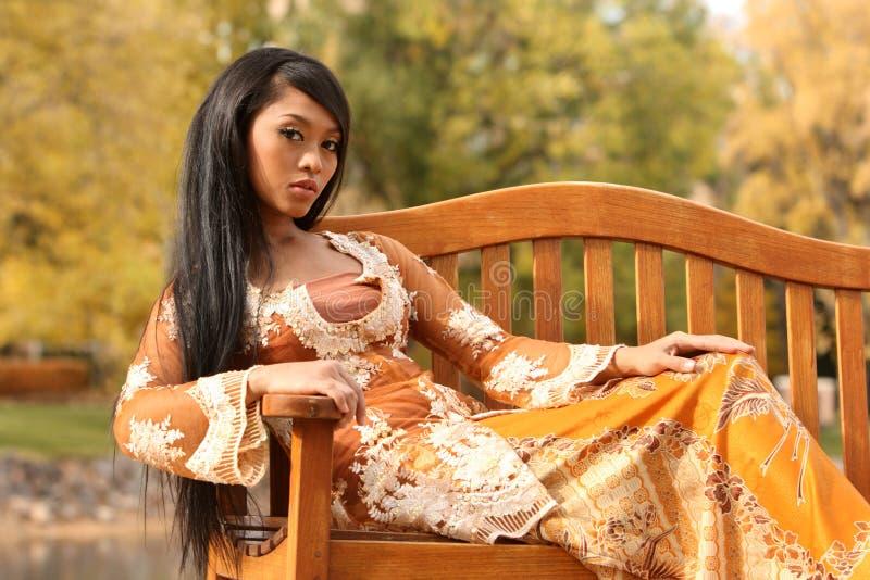 Aziatisch Indonesisch Meisje royalty-vrije stock foto's