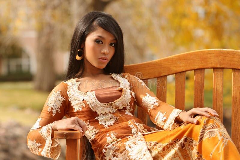 Aziatisch Indonesisch Meisje stock foto