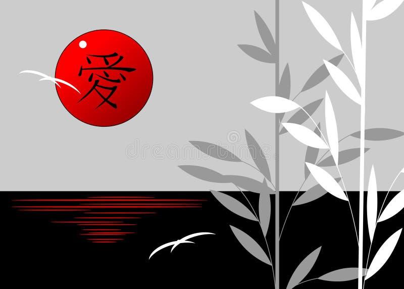 Aziatisch Landschap royalty-vrije illustratie