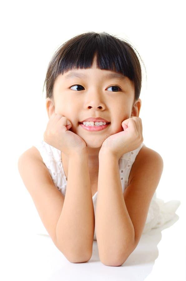Aziatisch leuk en mooi meisje royalty-vrije stock afbeeldingen
