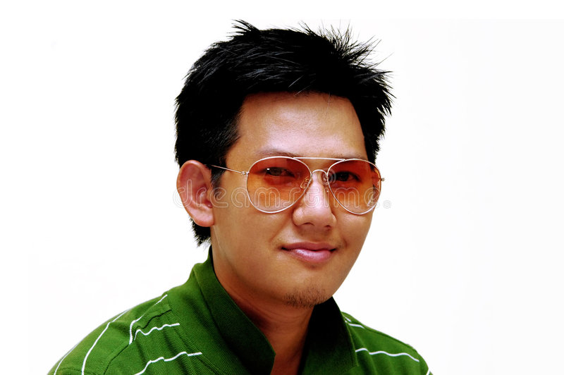 Aziatisch Mannelijk portret stock foto's