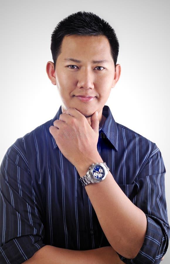 Aziatisch mannelijk portret royalty-vrije stock afbeelding