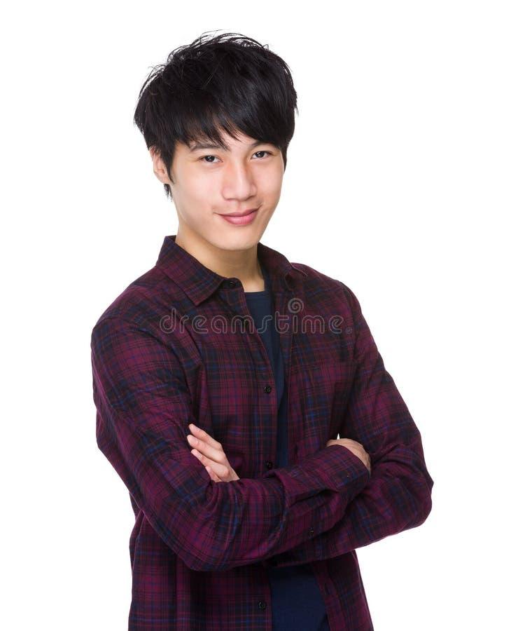 Aziatisch mannetje in toevallig stock foto's