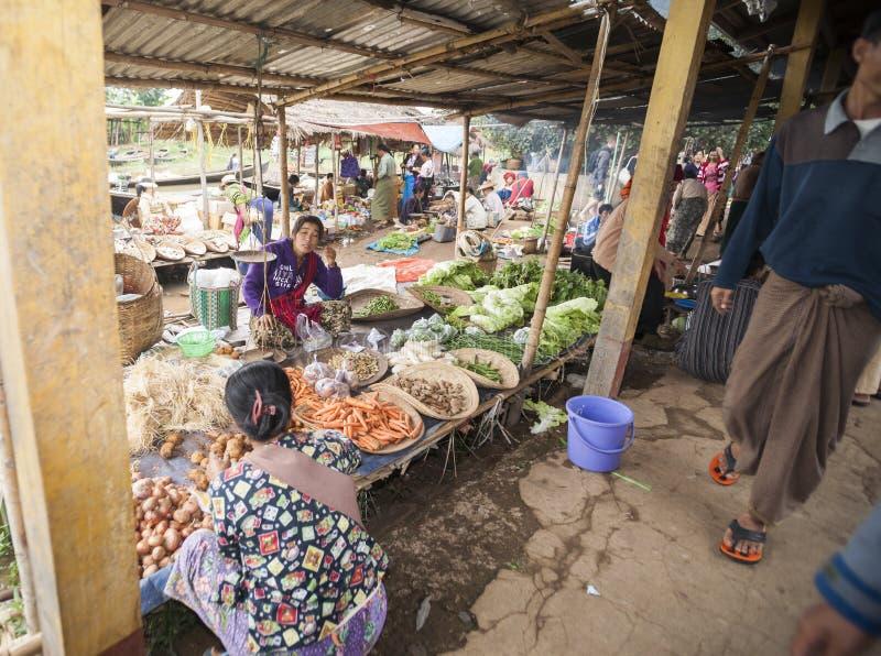 Aziatisch Marktbeeld. royalty-vrije stock afbeelding