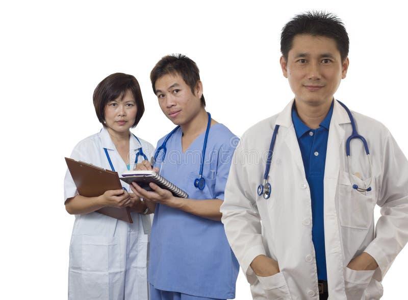 Aziatisch Medisch Team royalty-vrije stock afbeelding