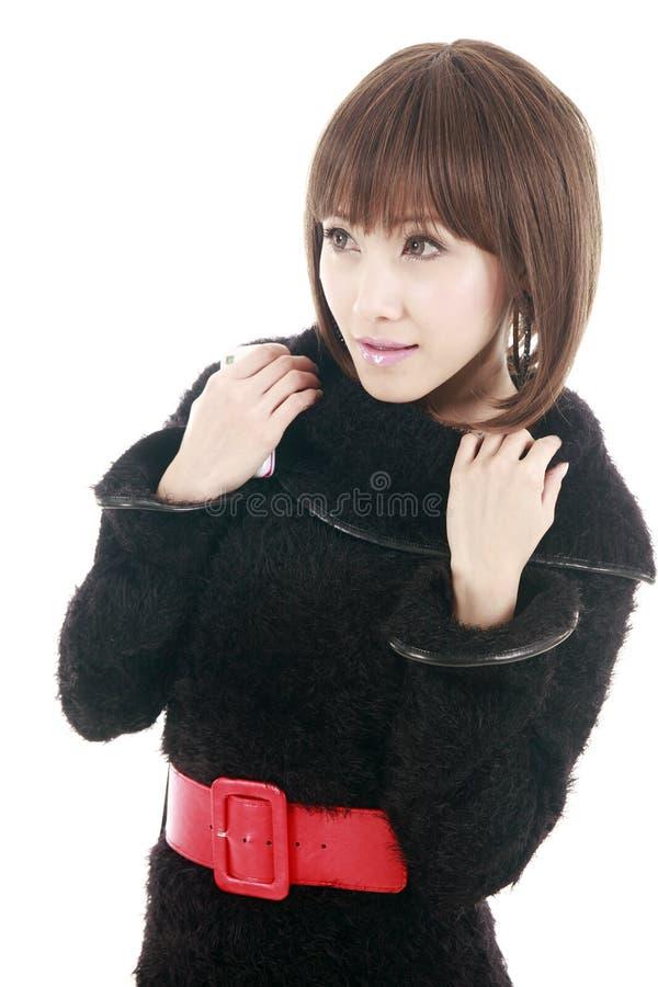 Aziatisch meisjesportret stock foto
