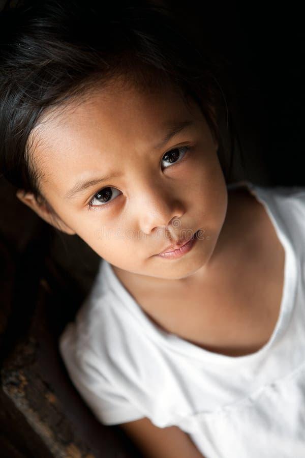 Aziatisch meisjesportret royalty-vrije stock afbeelding