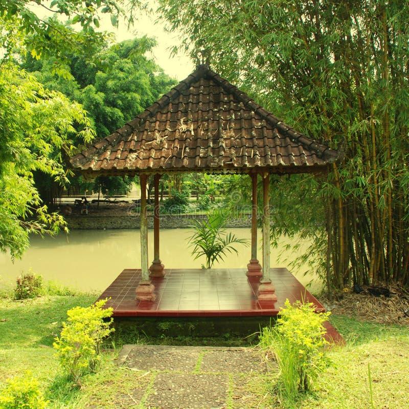 Aziatisch Paviljoen in Bali stock foto's