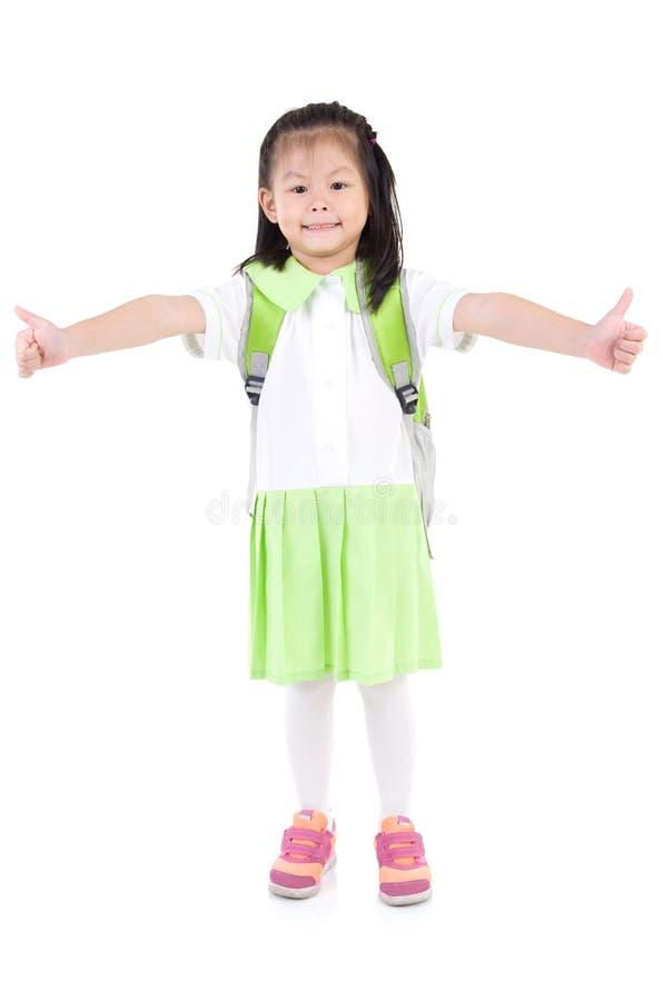 Aziatisch schoolmeisje stock foto