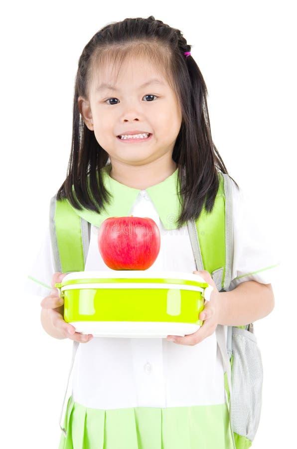 Aziatisch schoolmeisje royalty-vrije stock afbeeldingen