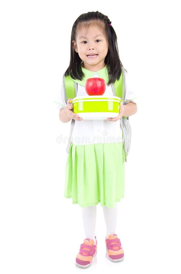 Aziatisch schoolmeisje royalty-vrije stock foto