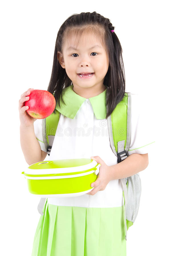 Aziatisch schoolmeisje royalty-vrije stock foto's
