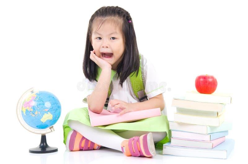 Aziatisch schoolmeisje royalty-vrije stock afbeelding