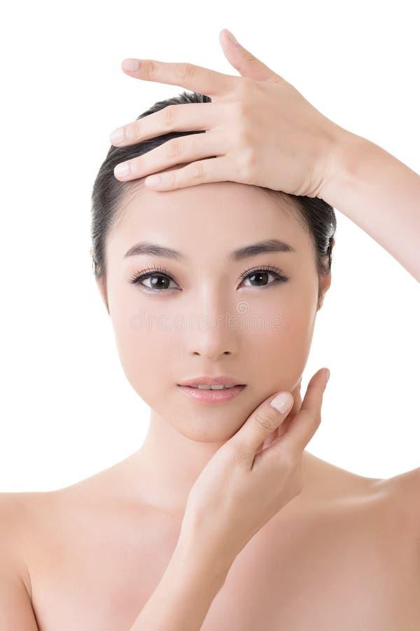 Aziatisch schoonheidsgezicht stock afbeelding