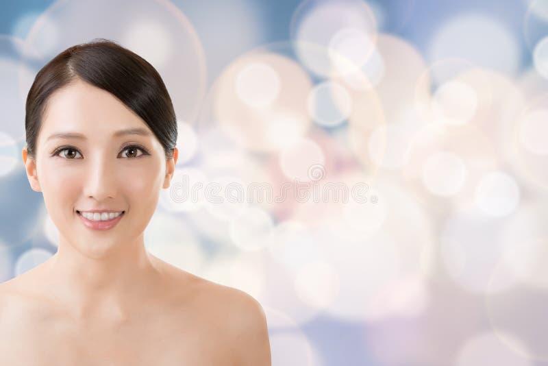 Aziatisch schoonheidsgezicht stock afbeeldingen