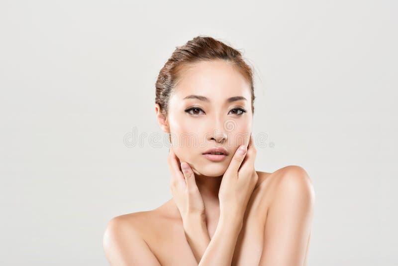 Aziatisch schoonheidsgezicht royalty-vrije stock fotografie