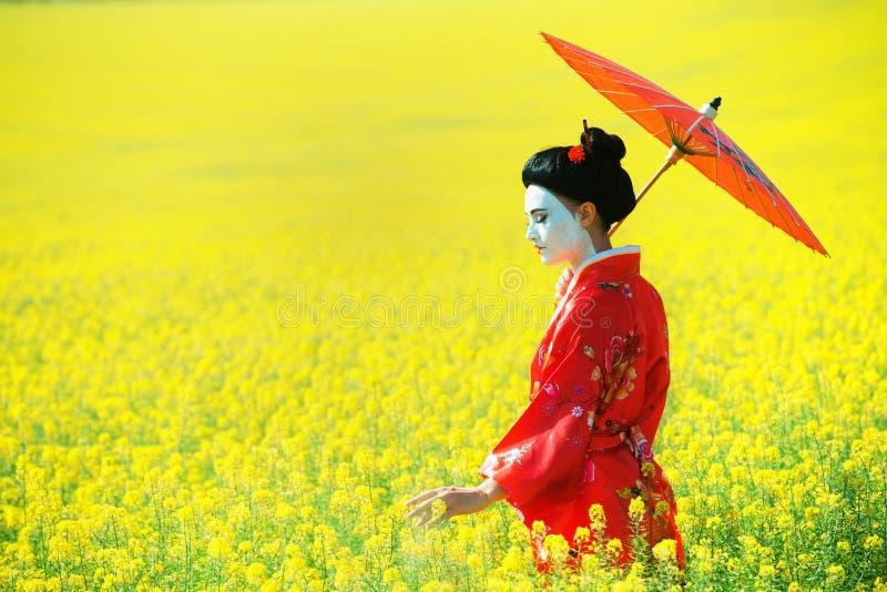 Aziatisch stijl vrouwelijk portret stock foto's