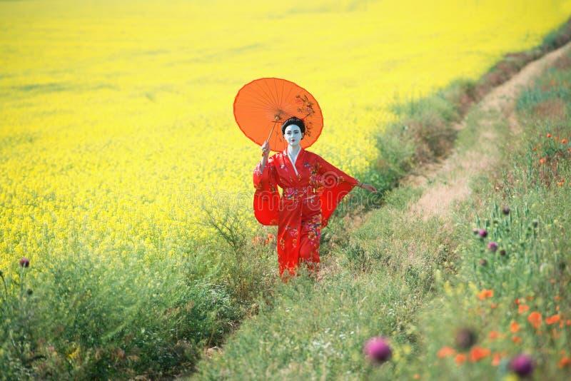 Aziatisch stijl vrouwelijk portret royalty-vrije stock afbeeldingen