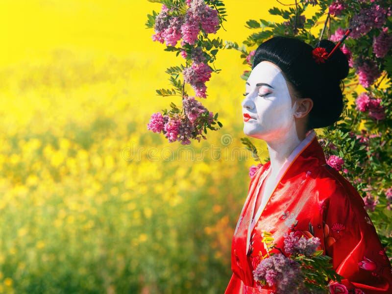 Aziatisch stijl vrouwelijk portret royalty-vrije stock foto