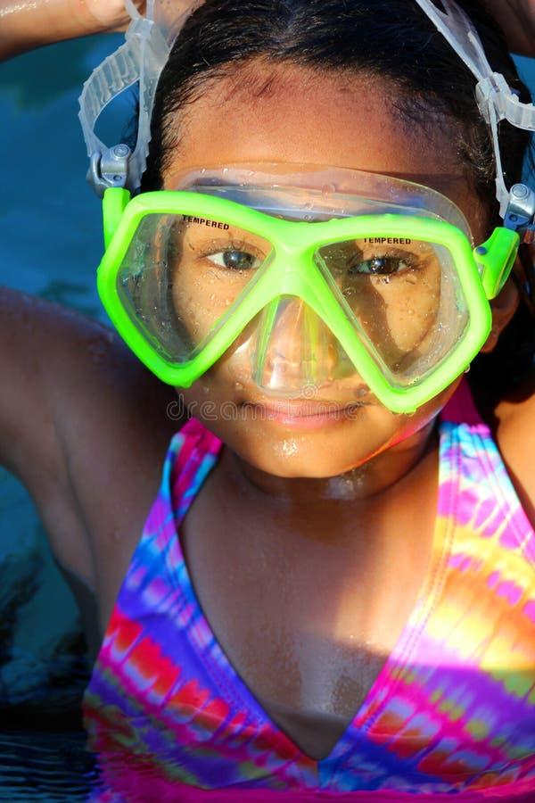 Aziatisch swimwear meisje royalty-vrije stock afbeeldingen