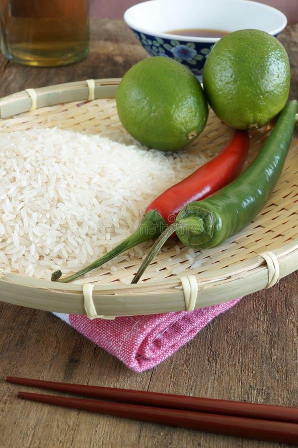 Aziatisch voedsel ingedients stock fotografie