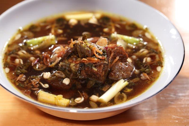 Aziatisch voedsel, rundvleeshutspot stock foto's