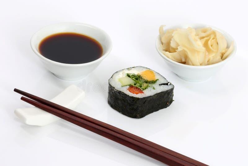 Aziatisch voedsel, sushi stock afbeelding