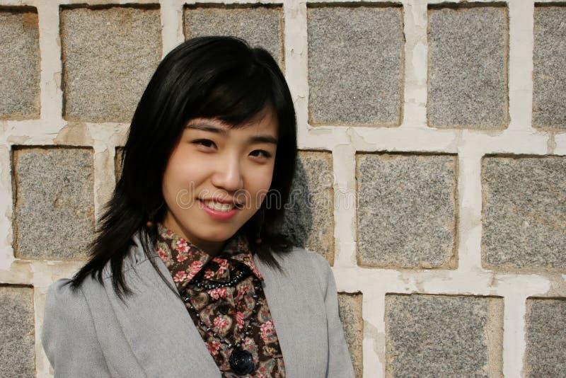 Aziatisch vrouwelijk portret royalty-vrije stock foto