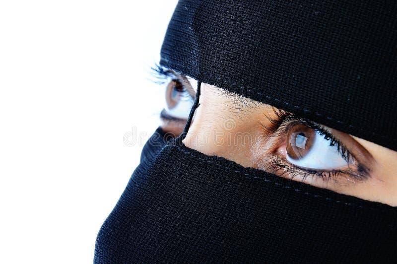 Aziatische Arabische moslimvrouw royalty-vrije stock afbeelding