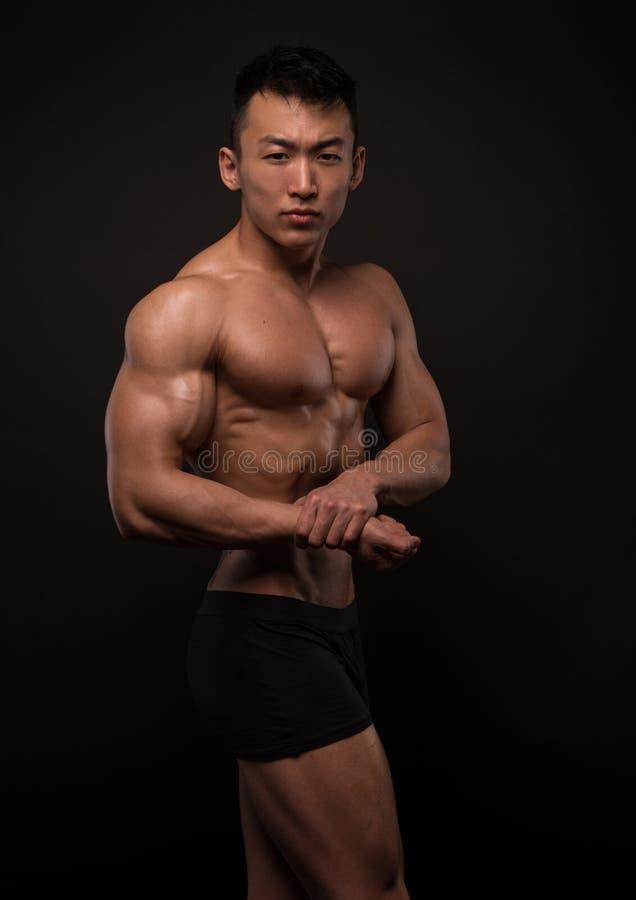 Aziatische atleet royalty-vrije stock afbeelding