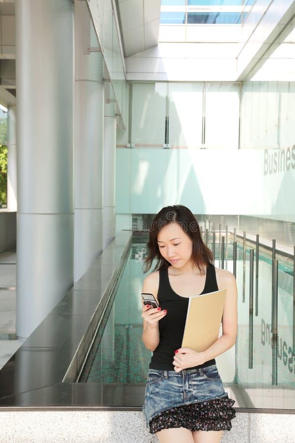 Aziatische BedrijfsVrouw stock afbeelding